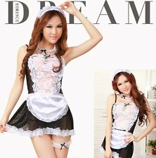 France Maid Uniform Costume, Party Dress, Fancy Waitress Outfit, UK Size: S/M