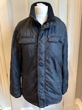 Black Quilted Padded Jacket Size Medium Criminal Clothing Like Barbour
