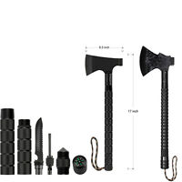 "Portable Sheath 18"" Hunting Tactical Camping Axe Survival Hatchet Multi-tool"
