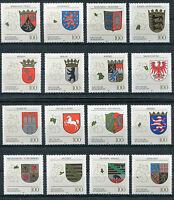 Bund 1712-1716,1660-1664,1586-1591 postfrisch Wappen der Länder I - III komplett