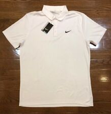 Mens Size Medium Nike Polo Golf Shirt Short Sleeve Solid White 749332-100