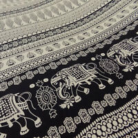 Viscose Indian Elephant Paisley Dressmaking Fabric