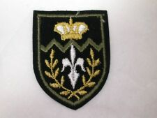 Heraldic Fleur De Lis Crown Crest Embroidered Iron On B
