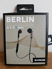 Urbanista Berlin Wireless Ear-phones Dark Clown Bluetooth 3 Button Remote Black