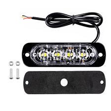 4 LED 12-24V Amber Weiß Strobe Warnlicht Warnleuchte Flash Blitzlichter Flashing