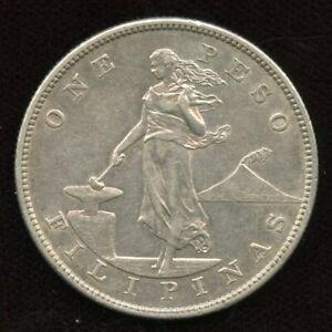 1903-S Philippines Peso Coin - AU Condition