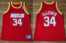 NBA HOUSTON ROCKETS BASKETBALL SHIRT CHAMPION #34 OLAJUWON SIZE 44 ADULT VINTAGE