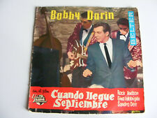 "Bobby  Darin   Come September  EP  1962 Spain  Import  7""  Vinyl  Single  Record"