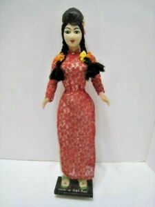 """Vintage Collectible Made in Vietnam Doll 16"""" Tall Movable  Arms In EUC Unbranded"""