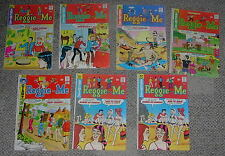 ARCHIE COMICS  REGGIE AND ME  LOT OF 7 BOOKS  1973-1975