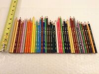 VINTAGE BEROL CANADIANA COLORED PENCILS LOT OF 43 - US & CANADA MADE -