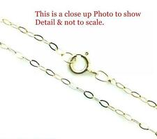 "9ct Gold Fine  Lightweight Trace Chain Necklace 16"" 18"" 20"" & Gift Box"