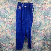 Vintage NWT Zubaz Mens LG USBL Basketball Active Blue Striped Sweatpants Joggers