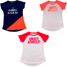 New Under Armour Little Girls Graphic Print Short Sleeves T-Shirt Sz 3T, 4, 5