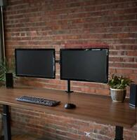 """Two HP 19"""" Widescreen LE1901W Dual Monitors with Desk Mount Stand Arm Package"""