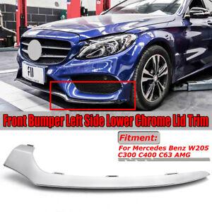Front Bumper Left Lower Lip Chrome Trim For Mercedes Benz C-Class W205 C300 C63