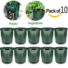 10 Potato Planting PE Bag Cultivation Pot Vegetable Growing Home Garden Supplies