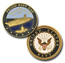 NEW U.S. Navy Proud Navy Dad Challenge Coin.
