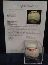 Hank Aaron Autographed Official National League (Coleman) Baseball– Full JSA LOA