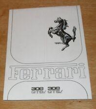 Ferrari 308 GTB & 328 GTS Brochure 1981-1982