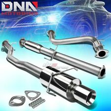 "4""ROLLED TIP STAINLESS STEEL EXHAUST CATBACK SYSTEM FOR 94-97 HONDA ACCORD CD"