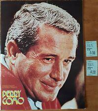 PERRY COMO Vintage 1975 UK Concert Tour Programme, tickets Large Format 28 pages