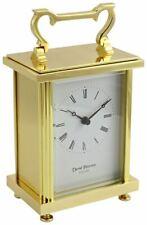 David Peterson Unisex Flat Brass Quartz Carriage Clock - Gold