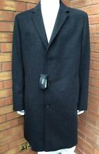 Hugo Boss Wool & Cashmere Blend Charcoal Grey Stratus3 Coat Size 46