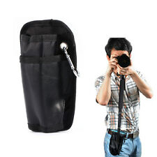 Black Portable Waist Bag Pouch Case with Hook+Buckle For DSLR SLR Monopod Tripod