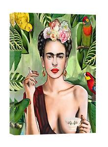 FRIDA KAHLO CON AMIGOS PRINT ON FRAMED CANVAS WALL ART WORK HOME DECORATION