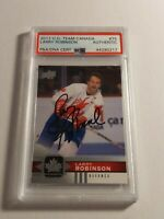 2017 Upper Deck Team Canada Larry Robinson - PSA/DNA authenticated Auto