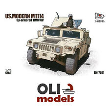 1/72 US Modern M1114 Up-Armored HMMWV Humvee Truck - T-MODEL 7201