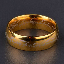 DouVei Lord of the Rings Fashion The One Ring Stainless Steel Ring Size 6-12 Usa