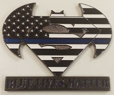 Batman Superman Blue Lives Matter Line of Justice Challenge Coin (non NYPD)