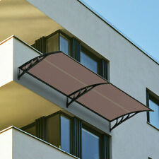 """New listing Integrating 80""""x 40""""Window Awning Door Canopy Outdoor Polycarbonate Patio Cover"""