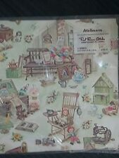 "Vintage Red Farm Studio Gift Wrap Package Attic Treasures 2 Sheets 20""x 29"" NOS"