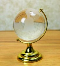 "CRYSTAL "" Feng Shui ""  globe 4"" Height brass base activating success and study"
