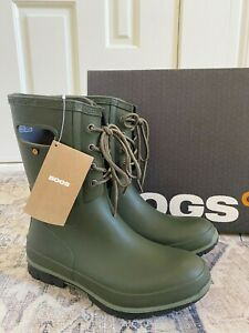 Bogs Women's Amanda Lace Boots Dark Green 8 NEW