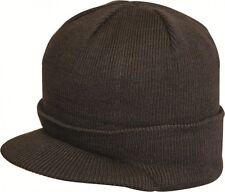 Highlander Peak Hat Beanie Adults Mens Womens Unisex Black Peaked Hat