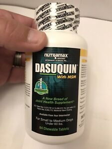 Dasuquin MSM Chewable Tablets Brand New Factory Sealed (Bottle of 84 Tablets)