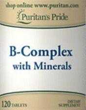 120 Comprimés de VITAMINES B-COMPLEX + MINERAUX - Santé - Energie (SACHETS ZIP)