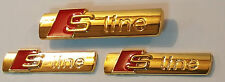 24ct GOLD PLATED AUDI S-LINE FRONT GRILLE 2x REAR SIDE BOOT BADGE SET 24K