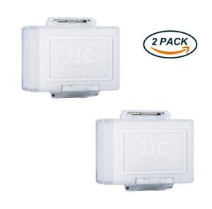 2 Pcs JJC Hard Camera Battery Case Protection Dust Water-resistant Storage Box
