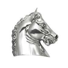 Sterling Silver Large Horse Head Pendant