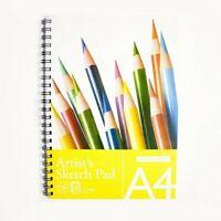 Sketch pad / A4 Artists Sketch Pad - 30 Sheets Spiral Bound - 135gsm