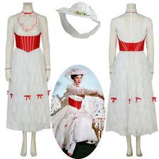 New Mary Poppins White Lace Dress Cosplay Costume Women's Dress Handmade