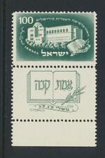 ISRAEL 1949, UNIVERSITY +TAB, VF MNH Sc#23 (SEE BELOW)