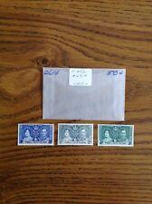 Turks & Caicos Island 1937 Stamp Set #47-9