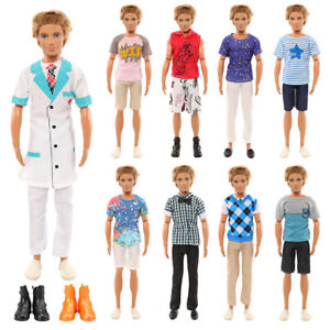 Barwa 1 Ken Doctor Doll  Set (Fixed Style) + Random 4 Piece Set+ 2 Shoes