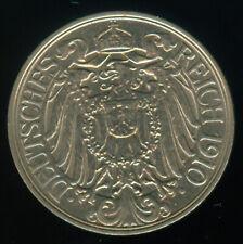 1910 A GERMANY 25 PFENNIG UNCIRCULATED